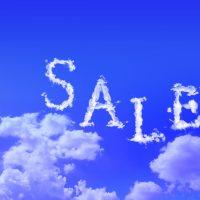 サマーセール雲画像